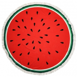 wholesale I37C Watermelon round beach shawl and blanket
