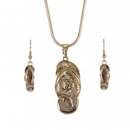 Wholesale WA00 Sea animals flip-flop necklace earrings set GD