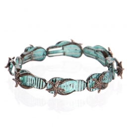 Wholesale WA00 Vintage starfish flip-flop bracelet OG