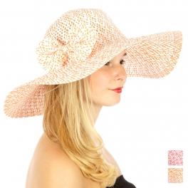 wholesale V18 2 color Ribbon paper hat Orange