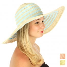 wholesale W04 Pastel circle line sunhat Blue fashionunic