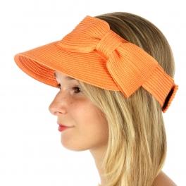 wholesale W10 Big side bow deco roll up visor hat FS