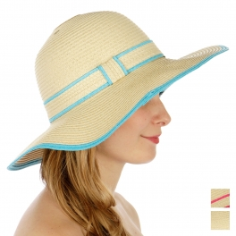 wholesale Color lined floppy sun hat AQ fashionunic