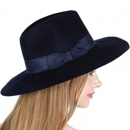 d883571b71c V17 Woolfelt hat with bow band. CODE  HK5208-1