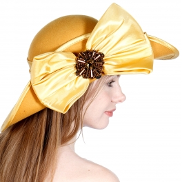 Wholesale BX70 PinUp hat with embellished satin bow CA