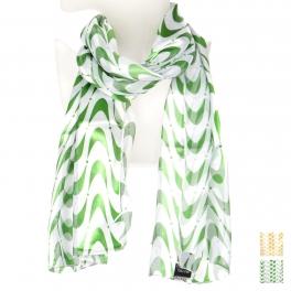 Wholesale O43B Geometric wave satin scarf
