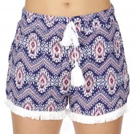 Wholesale P10C Tassel trim shorts Tribal Blue/Orange