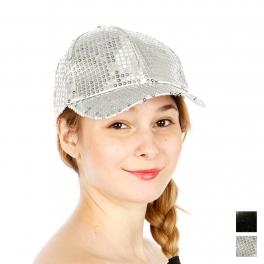 Wholesale R54A Sequins Snapback Hat BLK