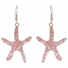 Wholesale L01B Starfish dangling earrings PG