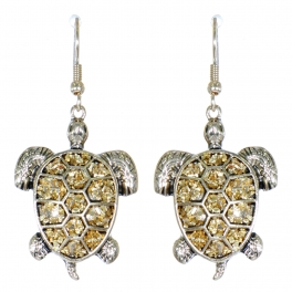 Wholesale L01D Turtle dangling earrings APG