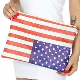 Wholesale T83A Crossbody clutch bags USA flag