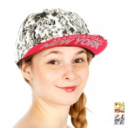 Wholesale R09C Floral Manhattan Snapback Hat BLK