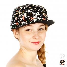 Wholesale S53A Paint Splatter Snapback Hat BLK