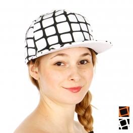 Wholesale R62B Net Line Pattern Snapback Cap WHBLK