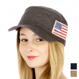 wholesale American flag and compass cadet Grey