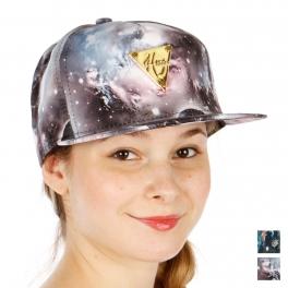 Wholesale R33A Galaxy Print Snapback Hat DYBLU