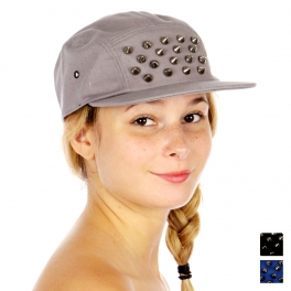 Wholesale P18E Spike Snapback Hat GY