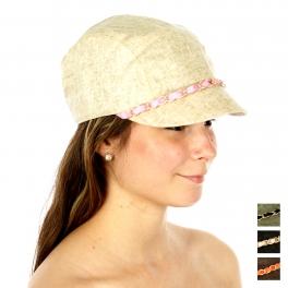 wholesale G07 Cotton linen cabbie hat Black fashionunic
