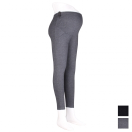 Wholesale R54B Adjustable waist band pocket maternity leggings Black