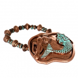 Wholesale WA00 Mermaid & seashell plate bracelet CB.OG