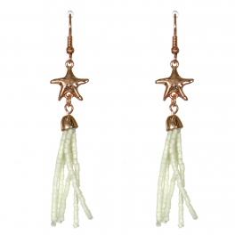 Wholesale WA00 Starfish & beads tassel earrings IV