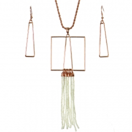 Wholesale WA00 Geometry & tassels necklace set IV