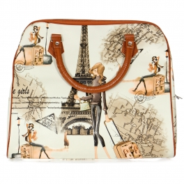 Wholesale P17C Paris weekender bag BROWN
