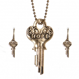 Wholesale WA00 Key pendant necklace set Hope GB