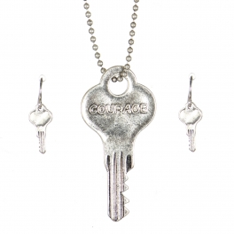 Wholesale WA00 Key pendant necklace set Courage SB