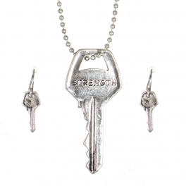 Wholesale WA00 Key pendant necklace set Strength SB