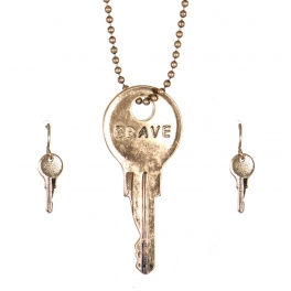 Wholesale WA00 Key pendant necklace set Brave GB
