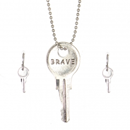 Wholesale WA00 Key pendant necklace set Brave SB