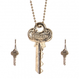 Wholesale WA00 Key pendant necklace set Blessed GB