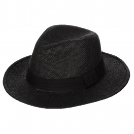 Wholesale V00A Panama hat with band trim