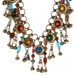 Wholesale WA00 Handmade bead and brass statement necklace GD