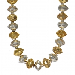 Wholesale WA00 Handmade gold and silver beaded necklace