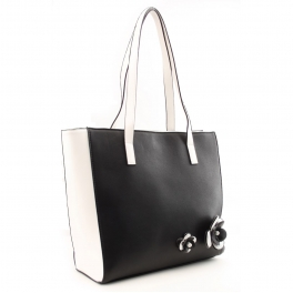 Wholesale S25C Floral detail tote Black