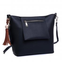 Wholesale S27C Faux leather handbag Black
