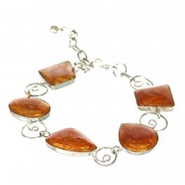 Wholesale WA00 Handmade bead bracelet Orange