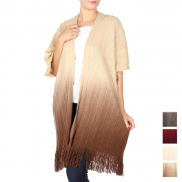 Wholesale S25D Textured woven shawl