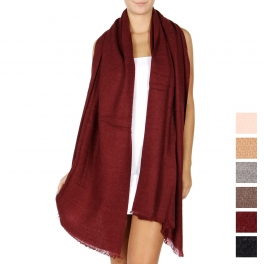 Wholesale Q01B Oversized solid woven scarf