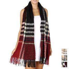 Wholesale Q78C Oversized check scarf