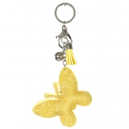 Wholesale WA00 Keychain Tassel and Butterfly RYW