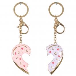 Wholesale WA00 Couple metal Keychain Heart G