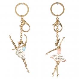 Wholesale WA00 Couple metal keychain Ballerina G