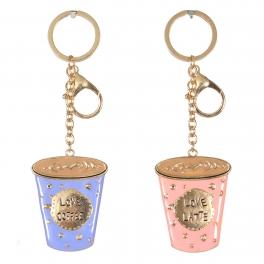 Wholesale WA00 Couple metal keychain Coffee G