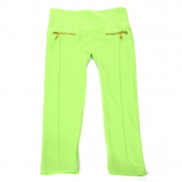 Wholesale C30A Solid leggings with zipper for kids