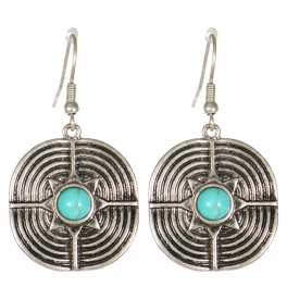 Wholesale M21C Textured metal drop earrings SB