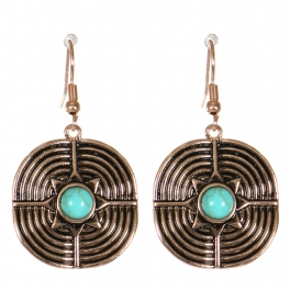 Wholesale M21C Textured metal drop earrings APG
