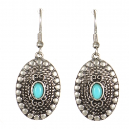 Wholesale M21C Textured oval drop earrings SB
